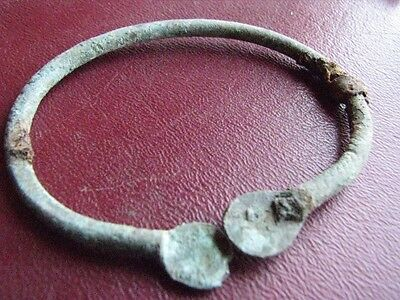 Authentic Ancient Lake Ladoga VIKING Artifact > Bronze FIBULA BROOCH F9-2