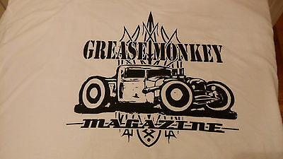 GREASE MONKEY  MAGAZINE - Hot Rod t-shirt MD. Art work by Jason North