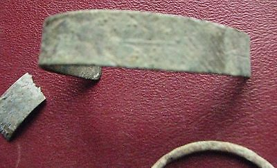 Authentic Ancient Lake Ladoga VIKING Artifact > Bronze Bracelets lot F3