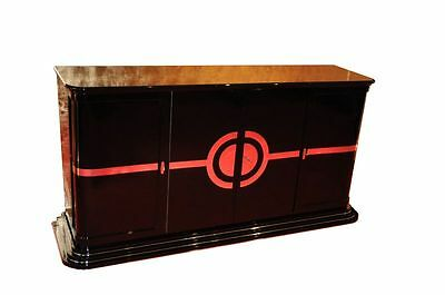 Art Deco Sideboard / NEW YORKER Chrome liner
