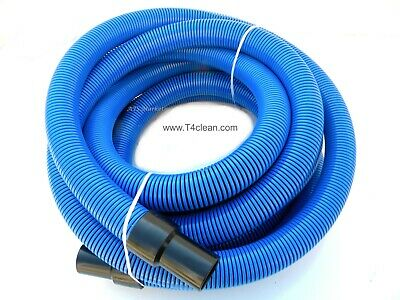 "Carpet Cleaning  25' (Crush Proof) Vacuum Hose 1 1/2"" BLUE"