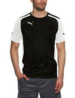 Puma Speed Maillot manches courtes Homme Noir/Blanc FR : L (Taille NEUF