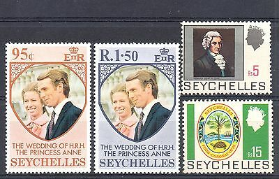SEYCHELLES = 4 x MNH stamps with values to 15 Rps. Good cat.