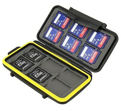 JJC MC-SD12 Rugged Waterproof Memory Card Case (12x SD/SDHC Cards)