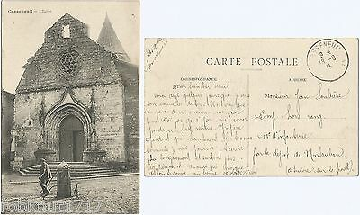 CPA postcard Church L'Eglise St Pierre et Saint Paul CASSENEUIL 47 [696 R]