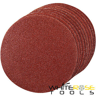 Silverline 10pc Hook And Loop Sanding Discs 125-300mm 60-400 Grit Sand Paper