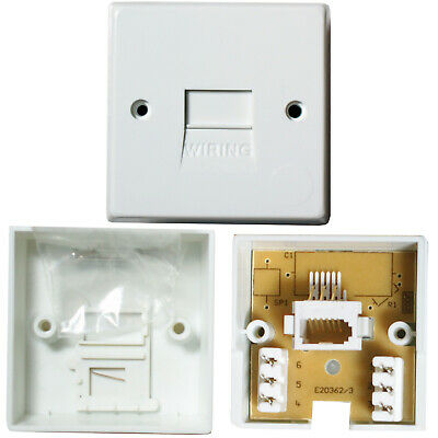 10 PACK - BT/PABX Telephone Extension Socket -IDC-Secondary Line Wall Plate 1/3A