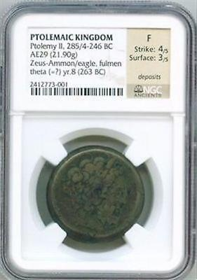 285-246 Bc Greek / Egypt Ptolemaic Kingdom Copper Ae 29 King Ptolemy Ii Ngc Fine