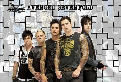 "O-6632 AVENGED SEVENFOLD THE POSTER 24""x36"" MUSIC ROCK CONCERT NEW SIDE SHEET"
