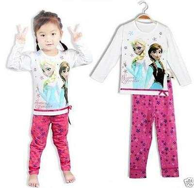 Frozen pyjamas set pink Elsa Anna long sleeves  2 3 4 5  yrs  girls Christmas