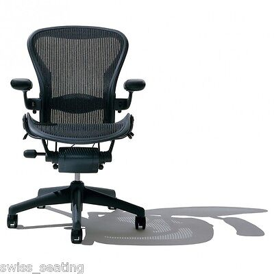 Herman Miller Fully Loaded Size B Aeron Office Chair - Graphite