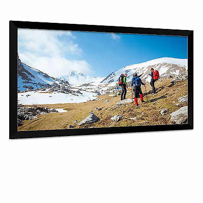 Carl's FlexiWhite Fixed Frame Projector Screen (16:9 | 4x7Ft | 100in Diag) HD,3D