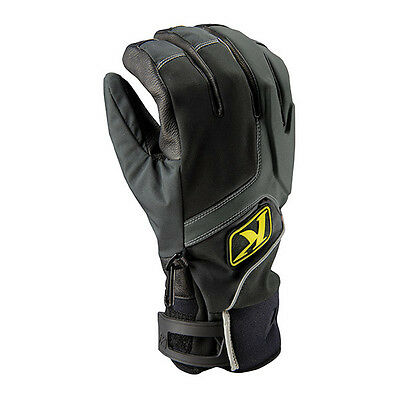 NEW Klim Powerxross Leather Gloves Black Snowmobile Gloves Water Resistant Glove