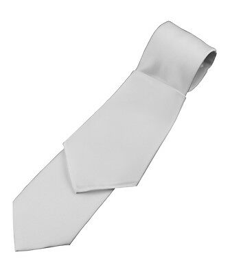 Lot of 10 Man's White Satin Tie and Pocket Square Sets