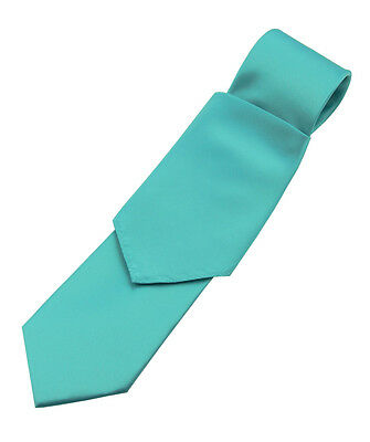 Lot of 10 Man's Teal Satin Tie and Pocket Square Sets