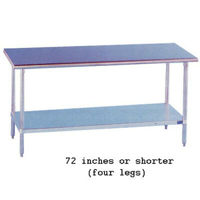 "Stainless Steel Work Table 18"" Wide Size 24"""
