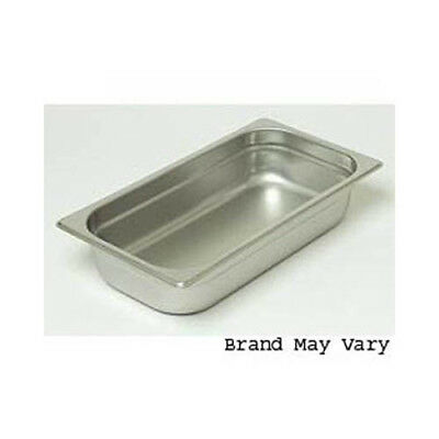 "Steam-Table Pan, Stainless, Third Size (6-7/8"" x 12-3/4"") Size 2-1/2"""