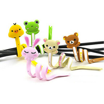Cartoon Animal Earphone Headphone Wrap Cord Wire Cable Holder Winder Organizer