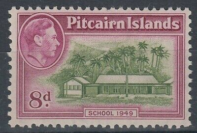PITCAIRN ISLANDS KGVI 8d. SCHOOL 1949 UHM/MNH (ID:235/D35413)