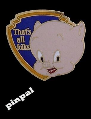 WB Looney Tunes Pin~Porky Pig~by Pinnacle Designs~ 80's vintage~NEW~old stock