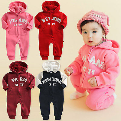 "Vaenait baby Infant Clothes Girls Fleece Outfits Bodysuit ""Girls Hoodie"" 6-18M"