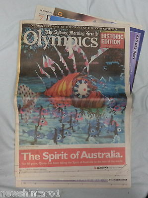 #AA. SYDNEY MORNING HERALD NEWSPAPER, OLYMPIC GAMES, 16th September 2000