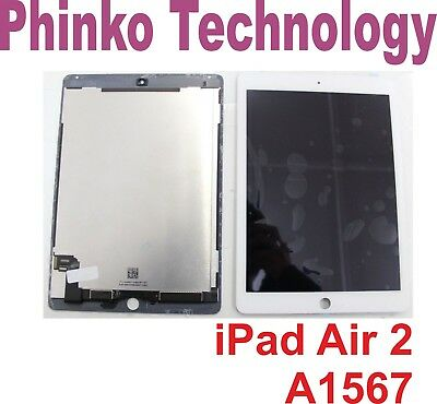 iPad Air 2 Gen LCD Display Touch Screen Digitizer Assembly White A1567 A1566