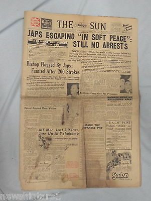 #AA. THE SUN  NEWSPAPER, WWII RELATED, 7th September 1945