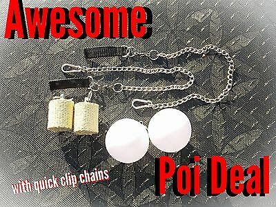 Fire Poi And Led Poi Package  Deal With Quick Release