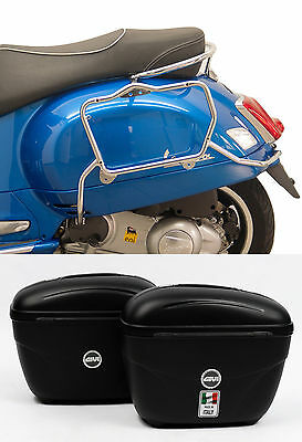 Case holder Carrier page Fehling 7715 Chrome incl. Givi Luggage for Vespa GT,GTS