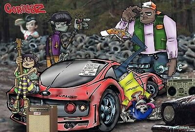 "GORILLAZ THE POSTER 24""x36 INCH MUSIC ROCK CONCERT NEW 1 SIDE SHEET WALL PM11"