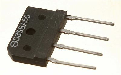 D3SBA60 Bridge Rectifier 600V 4A (Pk of 2)