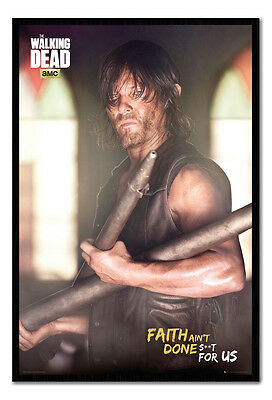 Framed The Walking Dead Daryl Faith Poster New