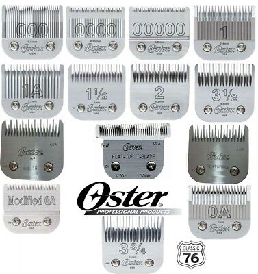 OSTER DETACHABLE CLIPPER BLADES for Models 76, Titan,10, Octane, Pwline, Xcell