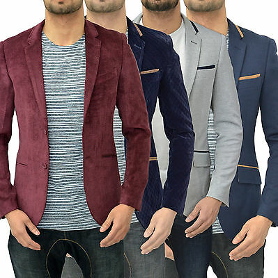 Mens Designer Swade Blazer Jacket Coat Tailored Slim Fit Smart Casual Suit Top