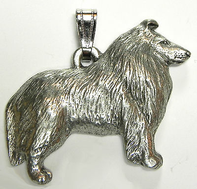Chow Pendant Dog Harris Fine Pewter Made in USA jewelry