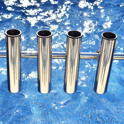 4 Pieces Stainless Steel  Clamp On Fishing Rod Holder For Rails 20mm to 25mm
