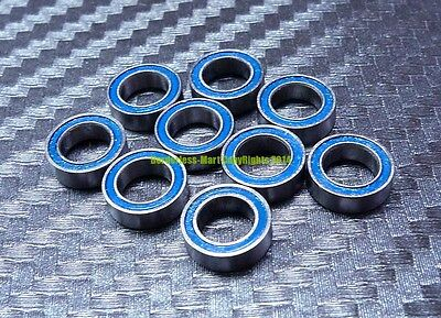 [10 Pcs] MR148-2RS (8x14x4 mm) Rubber Double Sealed Ball Bearing MR148RS (Blue)