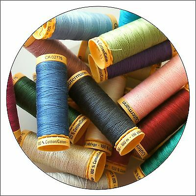 Gutermann Natural Cotton Thread 100m - Range of Colours, Buy 2, 3rd @ 30% Off