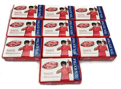 Lifebuoy Soap -Total 10 -68g Face Toilet Soap x 10 -TEN Bars Germ Protection