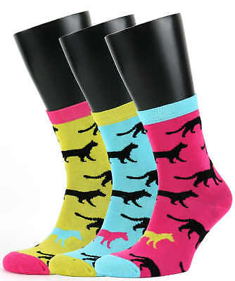 Ladies Cat Design 3 Oddsocks for Cat and Sock Lovers from United Oddsocks