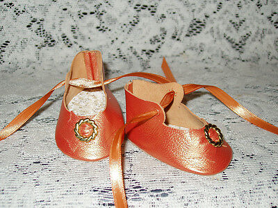 """22"""" Saucy Walker Leather Shoes ~ ORANGE PEARL"""