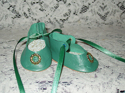 """22"""" Saucy Walker Leather Shoes ~ MEDIUM GREEN"""