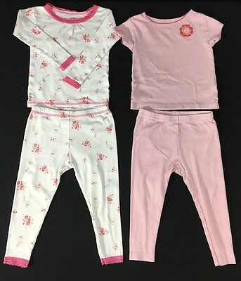 d1f0b5b05312 CARTERS GIRL LOT of 4 Pieces 2 Outfits Tea Party Themed 100% Cotton ...
