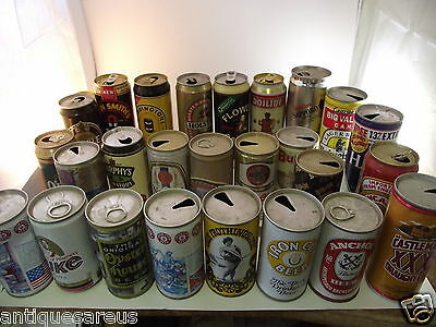 24 +  Beer Can Collection Duke, Anchor, Odle Frothinsslosh Iron City , Dojlidy ,