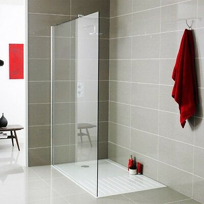 900mm Wetroom Screen and Bracket with 8mm Toughened Safety Glass