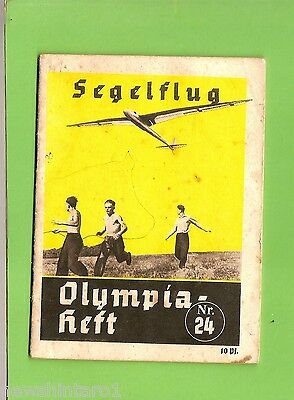 #D215. 1936 Berlin Olympic Games Information Booklet - Gliding