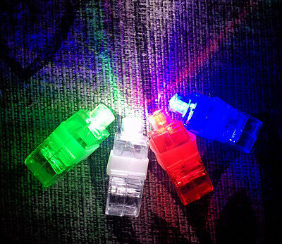 4pcs LED Rave Party Stage Favors Laser Finger Light Up Beam Torch Glow Ring