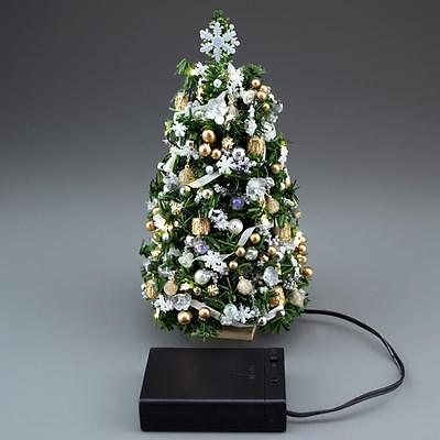 SALE Doll House Shoppe Lighted Gold Silver Ult Christmas Tree dhs49249 Miniature