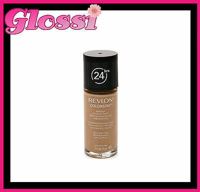 1 x REVLON COLORSTAY 24HR FOUNDATION MAKEUP ❤ COMBINATION/OILY ❤ 340 EARLY TAN
